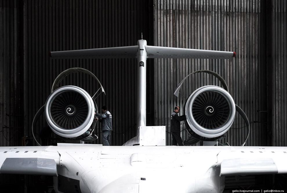 14. Особенность самолёта-амфибии: его двигатели устанавливают над крылом, которое защищает силовые у