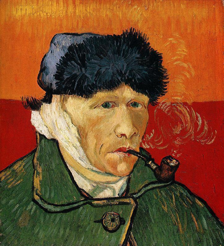 10. «Автопортрет с трубкой» Хотя многие верят, что Ван Гог сам отрезал себе ухо, искусствоведы увере