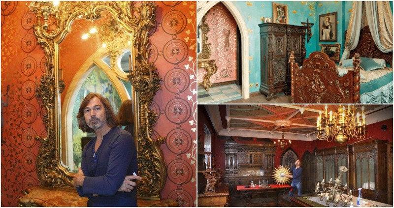 В жилище художника Никаса Сафронова 15 комнат. Общая площадь квартиры — около 1000 квадратных ме