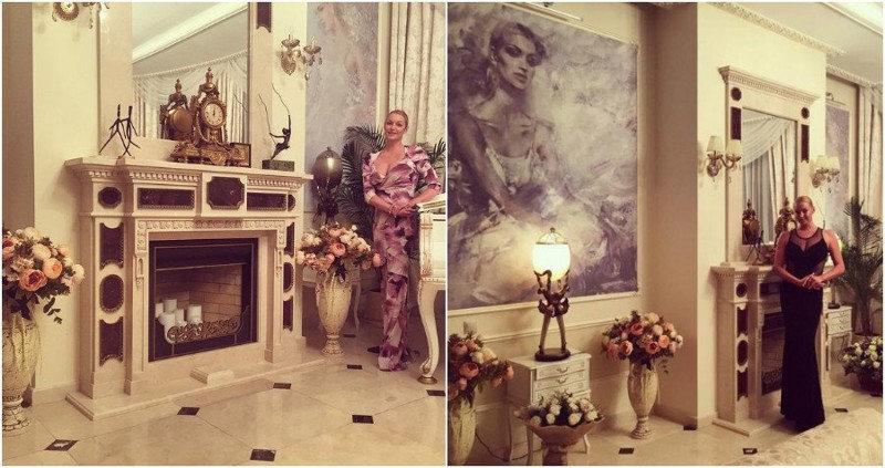 В трехэтажном доме балерины — три спальни, каминная, столовая, несколько гардеробных, четыре ван