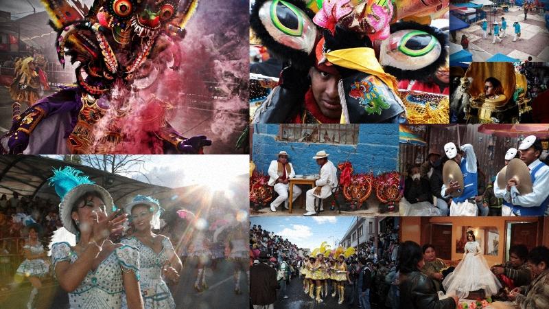 """Диаблада – традиционный боливийский карнавал, находящийся под защитой ЮНЕСКО, как """"устно-визуальное"""