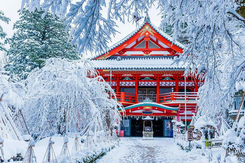 Храм Натадэра в зимнее время года