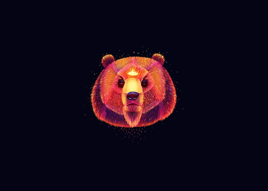 Digital Light Illustrations of Animals (9 pics)