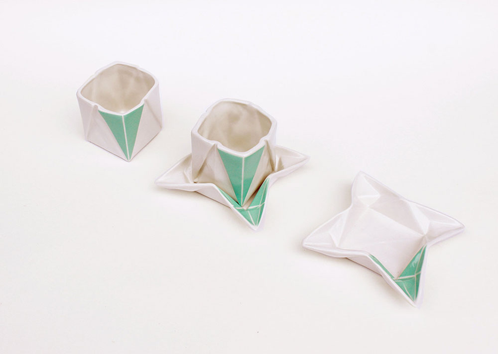 Ceramic Origami Plates and Dishware by Moij Design