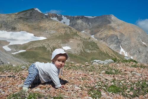 Поход с ребенком на вершину Оштен в Лагонаки. 11 месяцев.