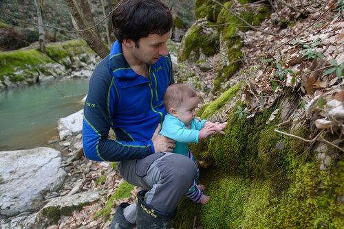Поход с ребенком 8 месяцев на Аюкские водопады в Горячем Ключе