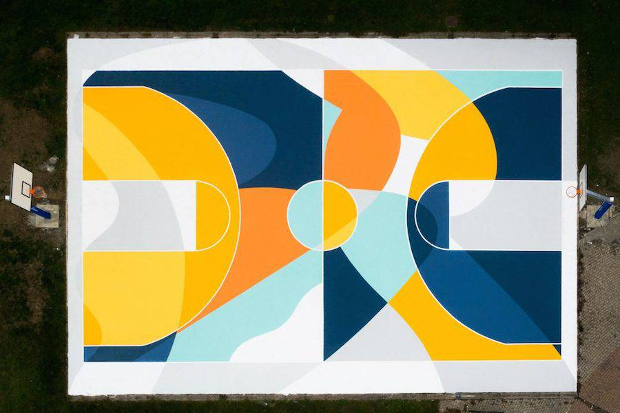 Superb Multicolored Basketball Court in Italy by GUE (8 pics)