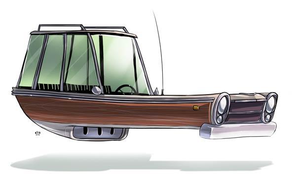 Ze Future - Vehicules retro-futuristes par Ido Yehimovitz