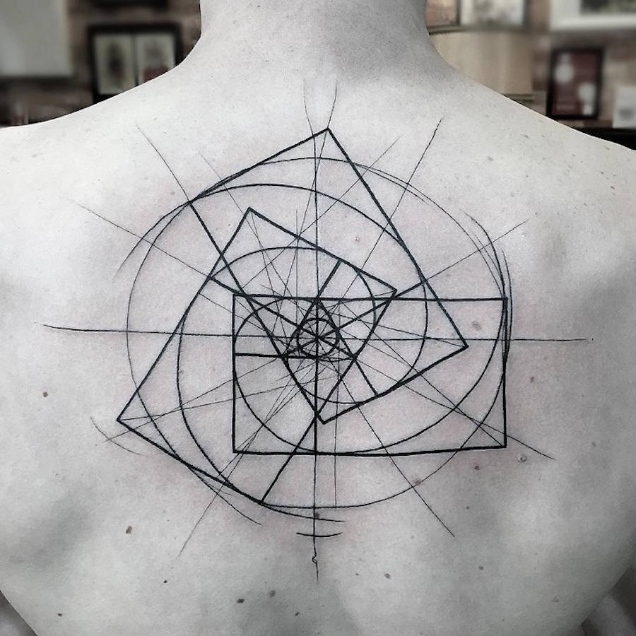 Superb Tattoos with Geometric Lines