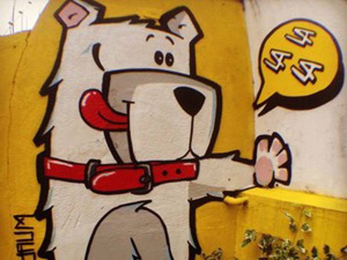 La La La Dog: Grafiteiro faz sucesso com criancas e conquista espaco para criar novo negocio (4 pics)