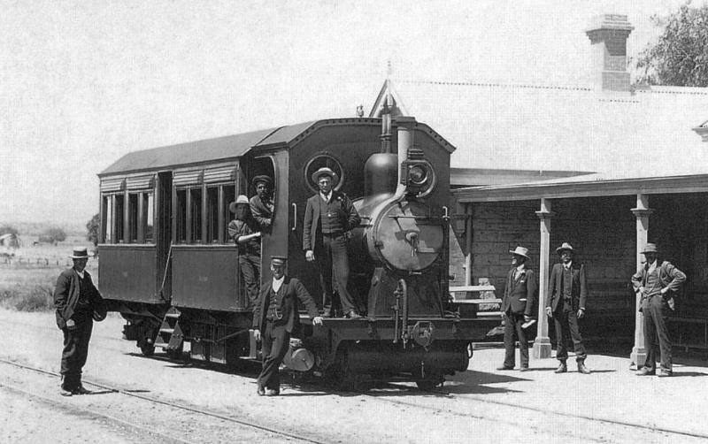 Австралийский одноэтажный трамвай Хаукера, 1906 год..jpg