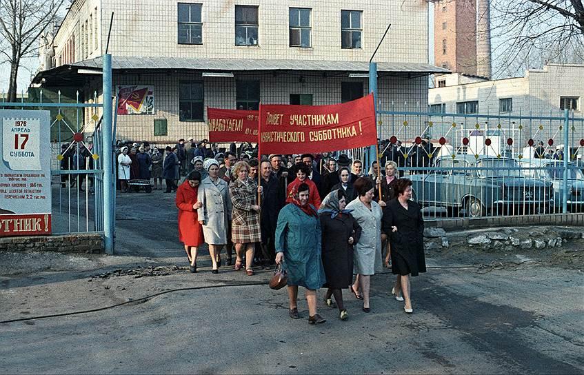 Субботник в Первомайске Николаевской области, 1976 г.