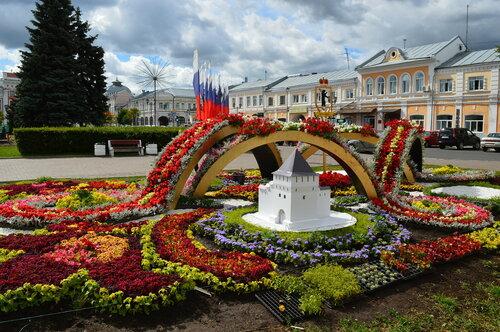 Городские цветники.