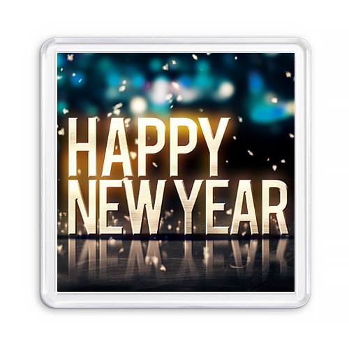 МАГНИТ АКРИЛОВЫЙ / HAPPY NEW YEAR — 2 (арт. 000433)