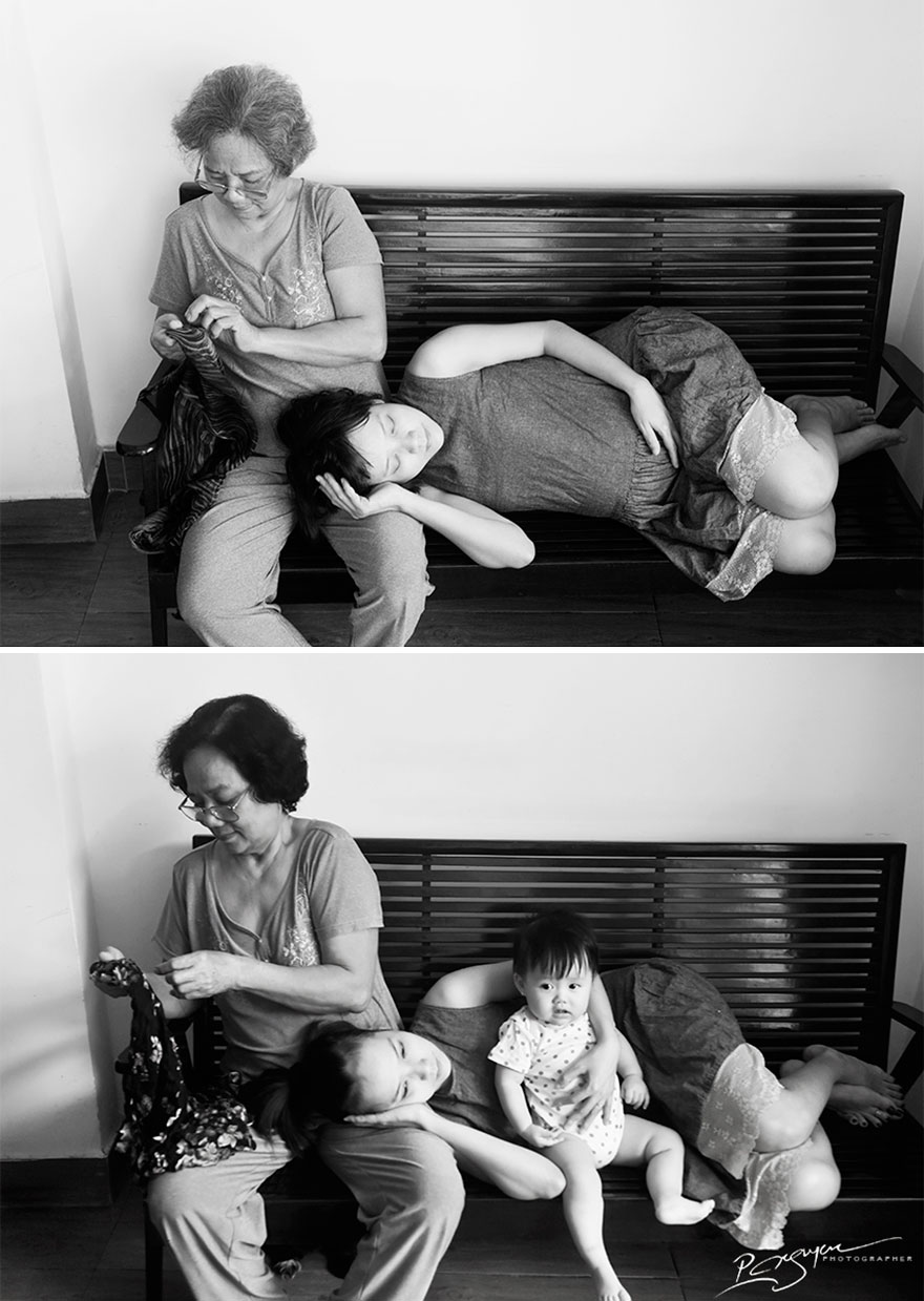 «Спокойные моменты с матерью и бабушкой».