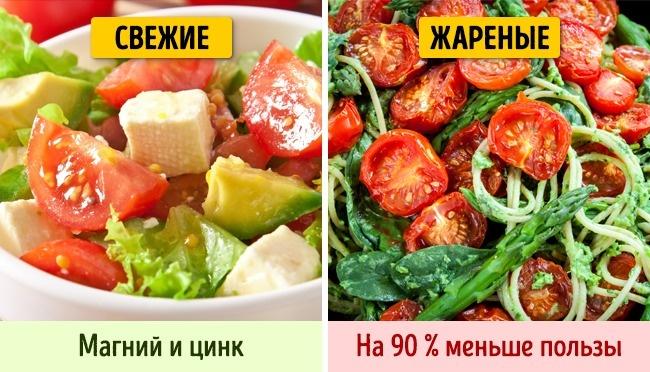 © depositphotos.com  Всырых помидорах содержится много магния ицинка. После термической обра