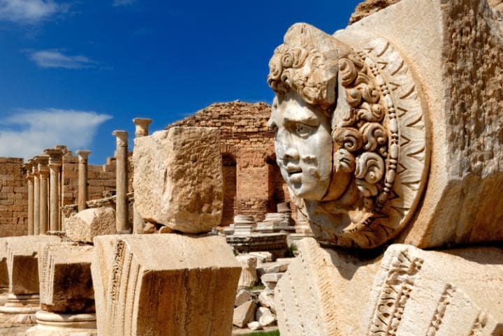 Древний город Лептис-Магна, Ливия. Под угрозой с 2016 года.