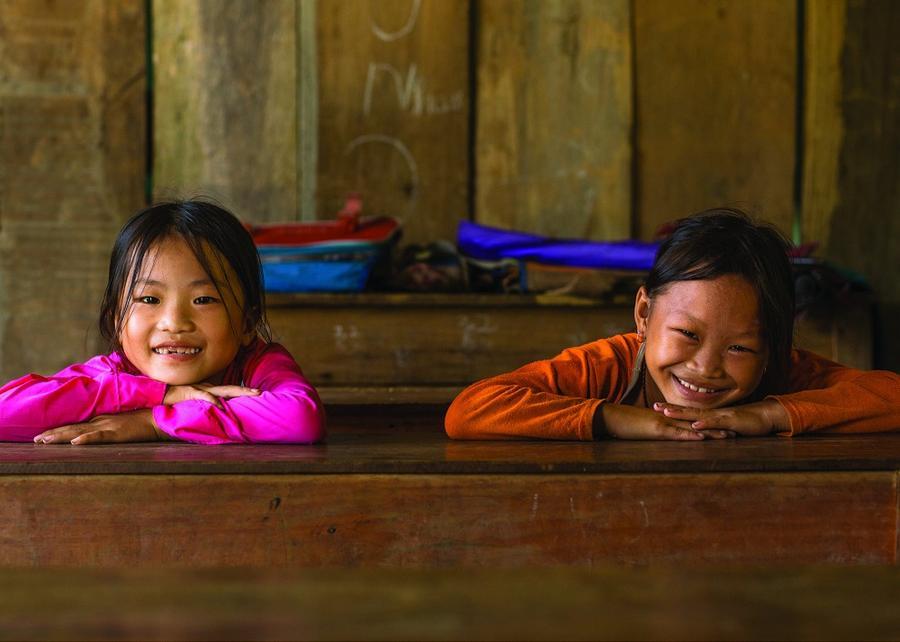 15. Дети в Куанг Ба.