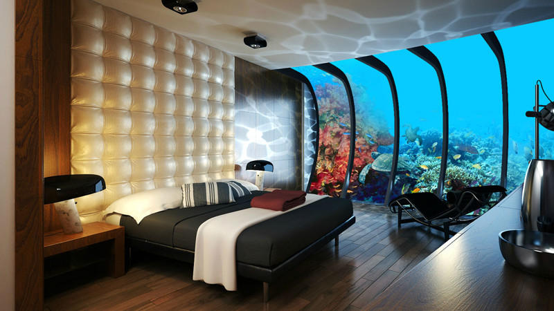 2. Номер в подводном отеле, Дубай.