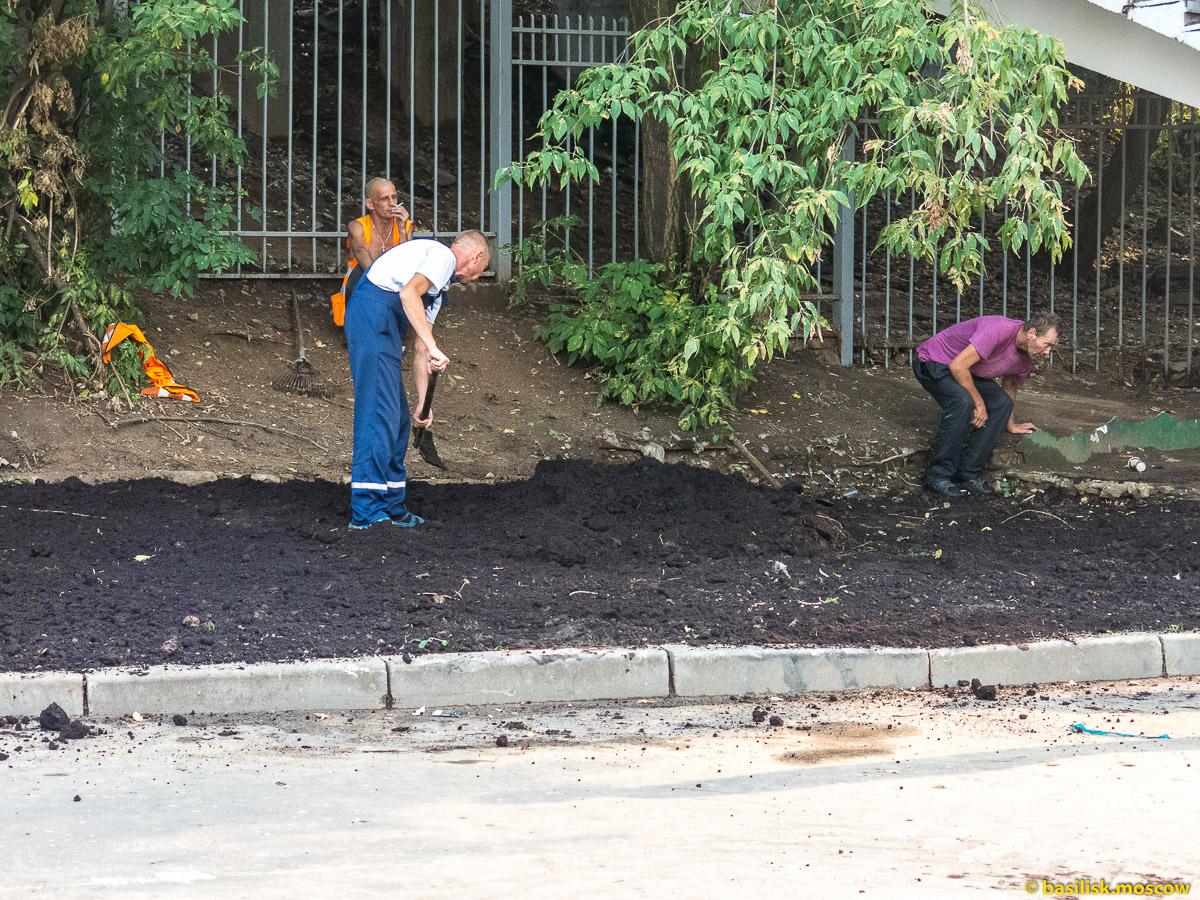 Работы возле платформы Дмитровская