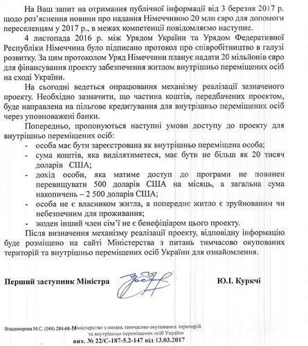 программа ипотечного кредитования от министерства временно оккупированных территорий и немецкого правительства