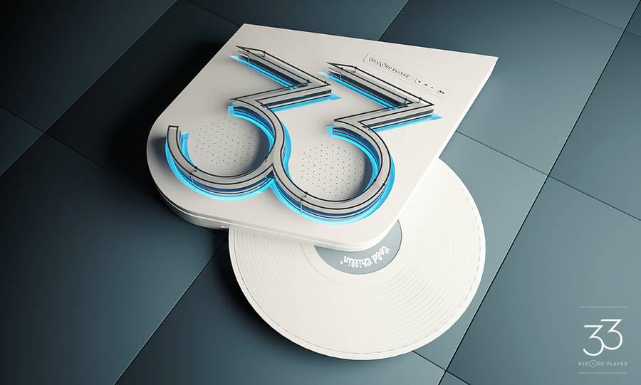 Futuristic Vinyl Record Player Concept