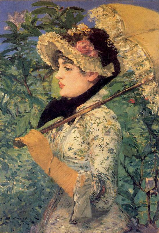 4-Manet, Spring - Study of Jeanne Demarsy 1881.jpg