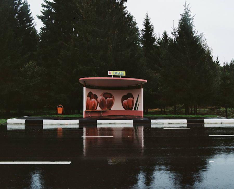Colorful Bus Stops in Belarus