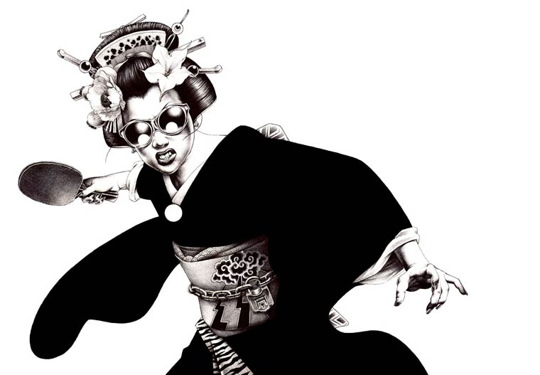 The explosive illustrations of Shohei Otomo, son of the famous creator of Akira