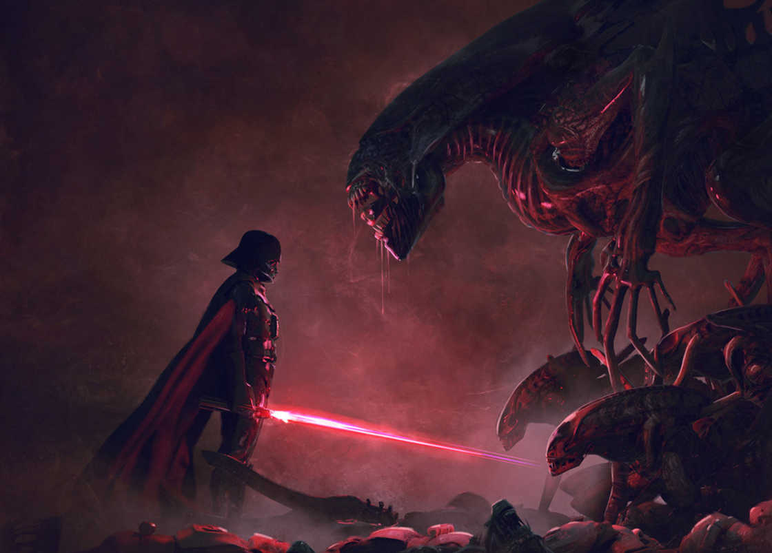 Star Wars vs Aliens – Une serie d'illustrations explosive ! (12 pics)