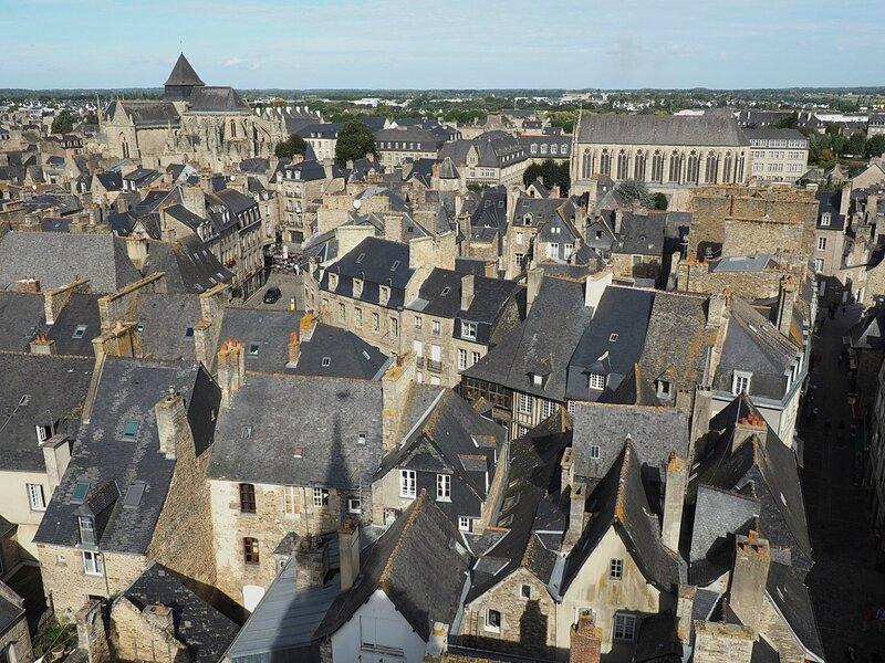 Франция, Динан - вид с башни (France, Dinan - view from the tower)