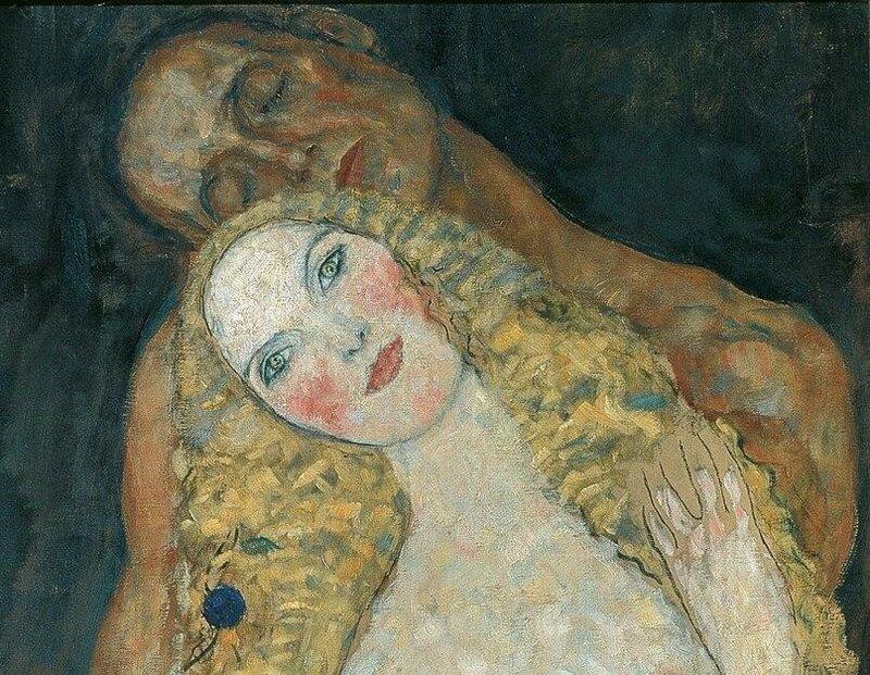 Gustav Klimt. Adam and Eve (detail), 1917.jpg