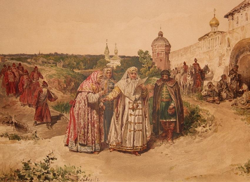 «Царевна Софья получает у Троицы письмо Василия Голицына» 1890