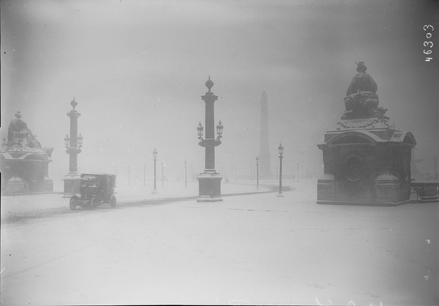 1916. Снежная пурга в Париже
