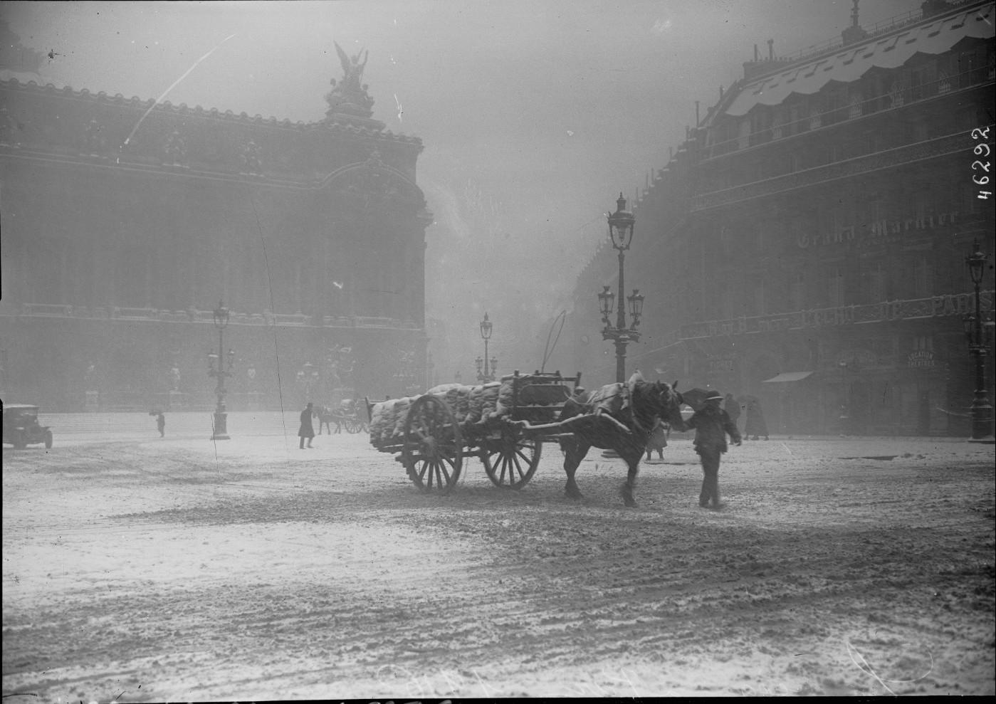 1916. Город во время снежной бури