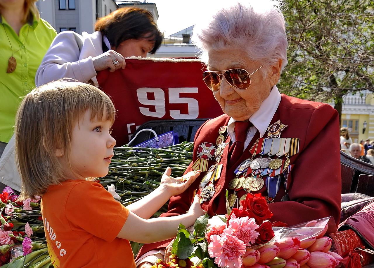 День Победы Ветераны и дети