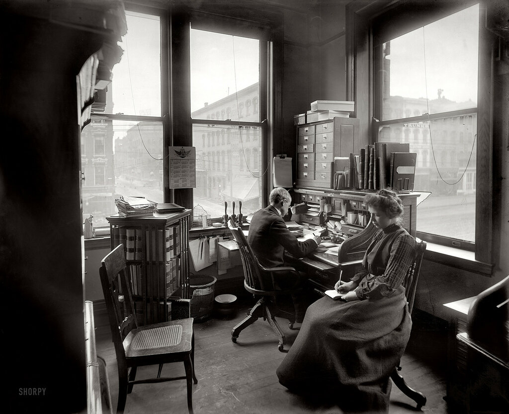 Circa 1902. Richmond & Backus Co. office, Detroit.