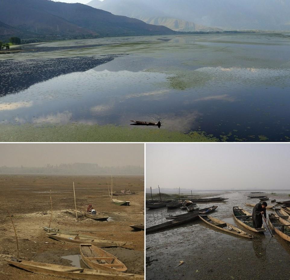 Одно из крупнейших пресноводных озер Азии превратилось в вонючее болото (15 фото)