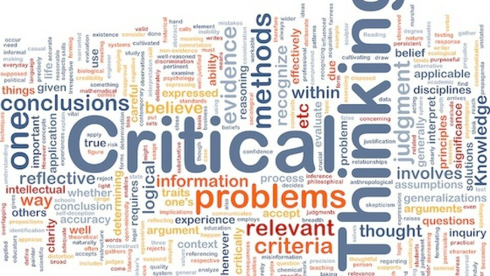 critical thinking involves standards