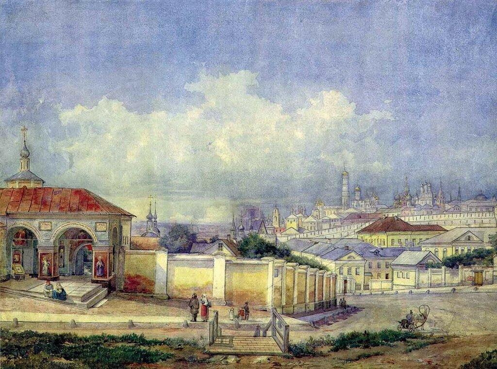 452943 Вид Москвы от Ивановского монастыря 1850-е Акварель Д. Карташева.jpg