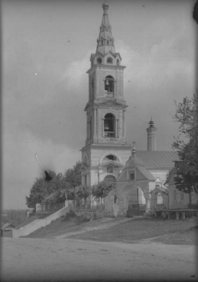 Село Пушкино. Вид на Никольскую церковь