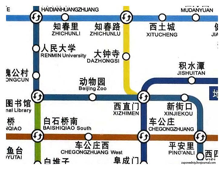 Карта пекинского метрополитена