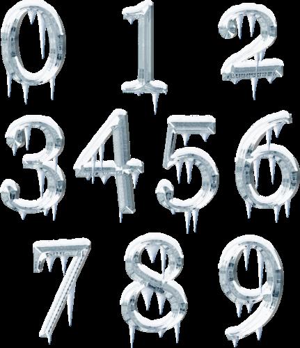 зимние цифры