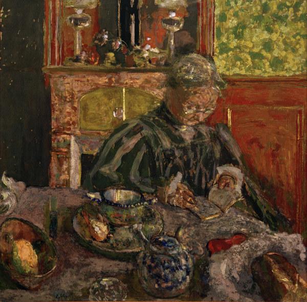 E.Vuillard, Die Lesende - Poe <?  1    *  uemi      Q  l e P?   ne  *  l e  ne h?    e  *  l e      -