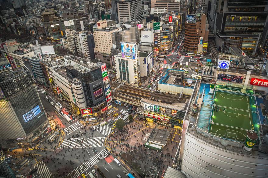 7. Самый тесный перекресток – Сибуя Ежедневно этот перекресток в Токио пересекает более 2,5 миллионо