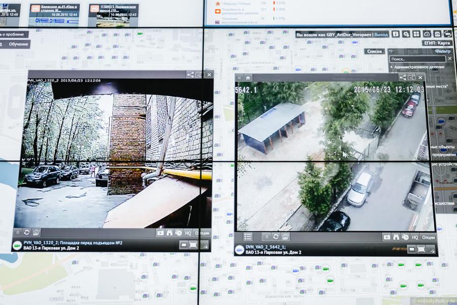 26. А это — вид с вэб-камер, установленных на моем доме. Нам долго и очень интересно рассказывали пр