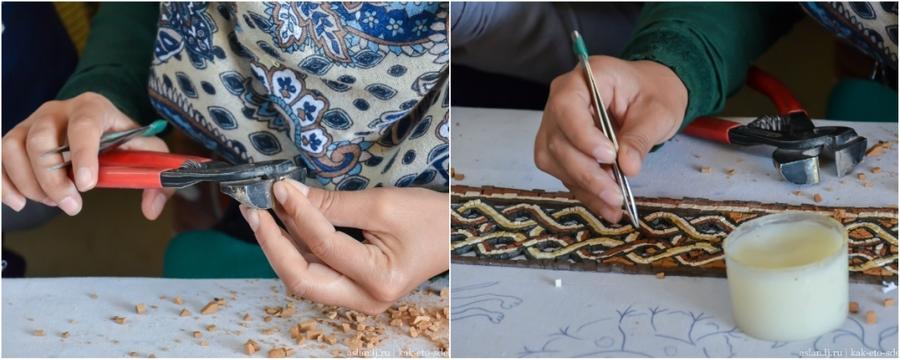 7. Кусочки складываются пинцетами в единый рисунок и склеиваются при помощи самого простого клея &#8
