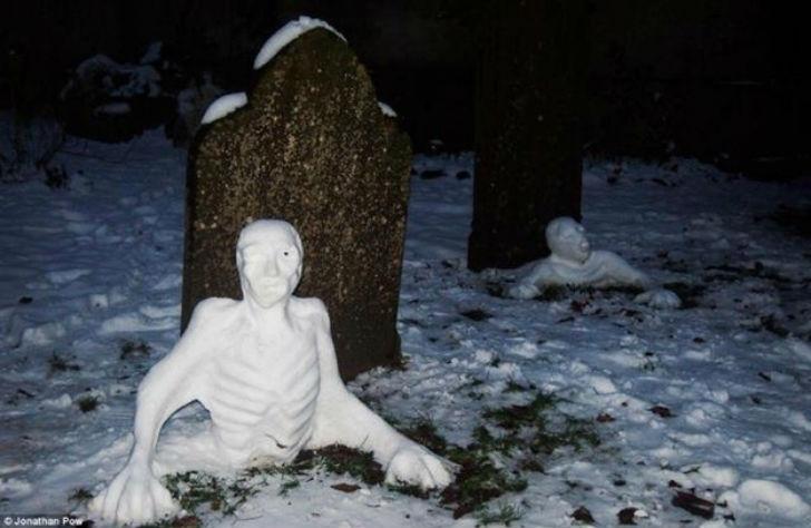 Снежный зомби.