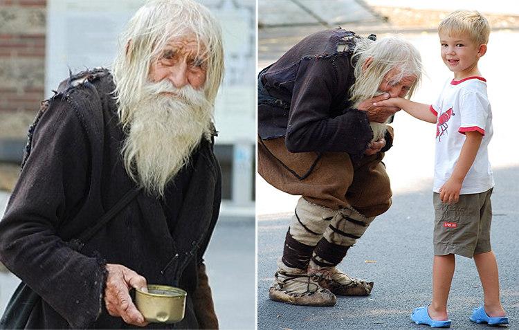 5. 102-летний Добри Добрев ежедневно просит милостыню и отдает все полученное в церкви и детские дом