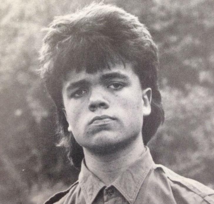 Питер Динклэйдж в школе, 1987 год.
